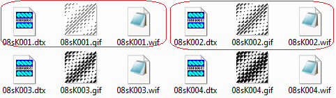 folder view of twills         icons